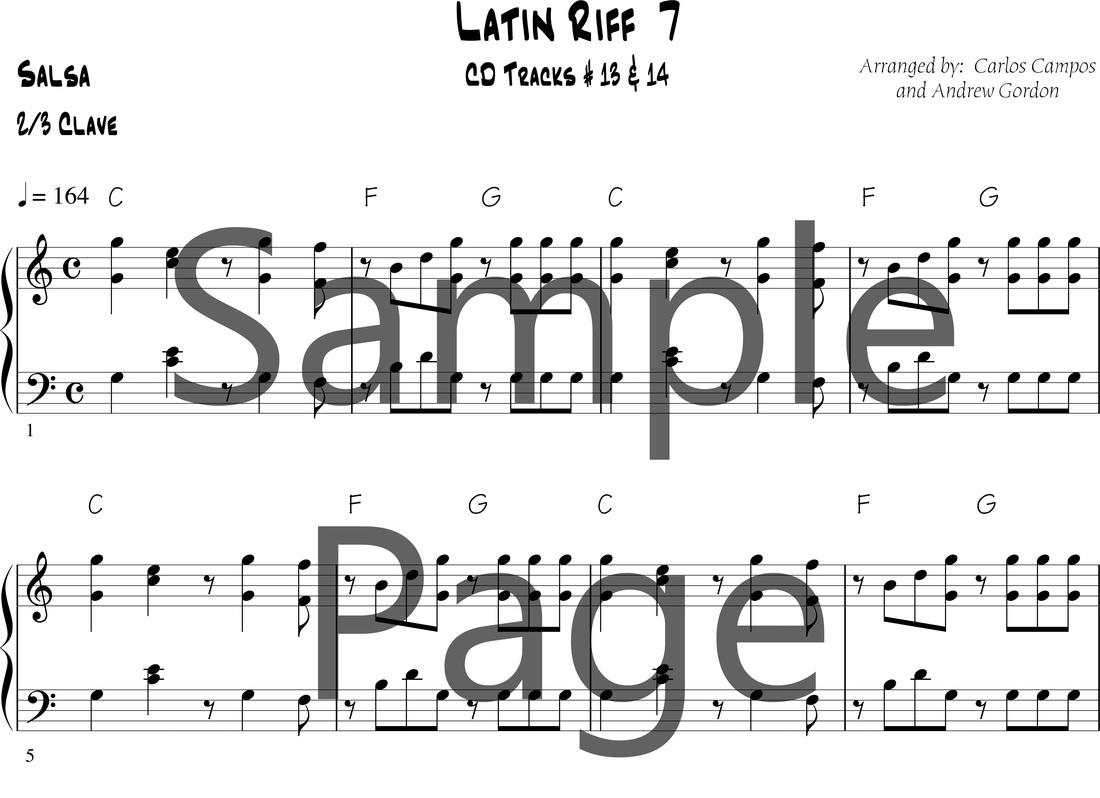 Latin Pianokeyboard Lessons Digital Sheet Music Downloads