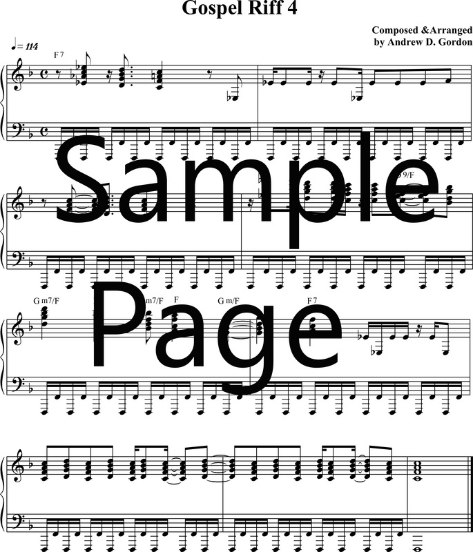Gospel Piano/Keyboard Lessons - DIGITAL SHEET MUSIC DOWNLOADS