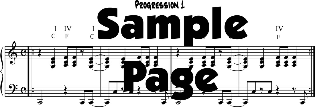 Pop/Rock Keyboard chord progressions - DIGITAL SHEET MUSIC