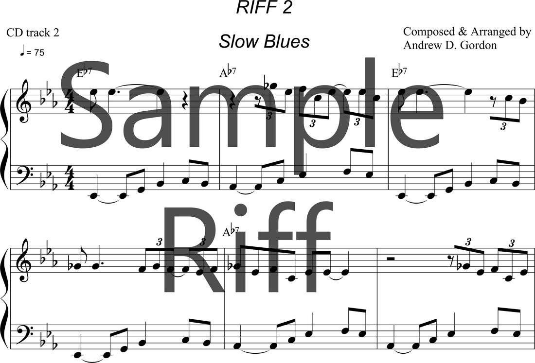 Blues Piano/Keyboard/Lessons - DIGITAL SHEET MUSIC DOWNLOADS